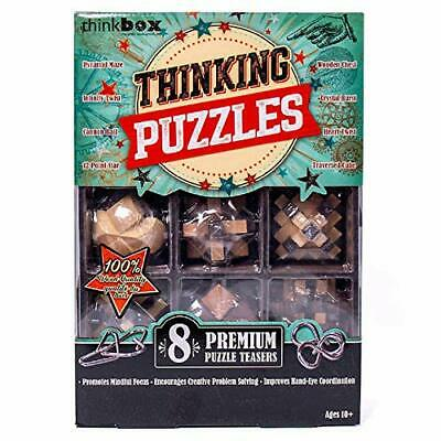 Think Box Great Brain Challenge, 8-Pack Games for Adults & Kids