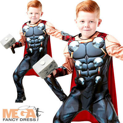 Deluxe Thor Infinity War Boys Fancy Dress Superhero Avengers Kids Childs Costume