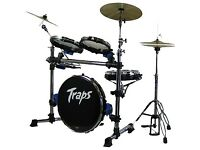 Compact Drum Kit with Cymbals and Travel Cases