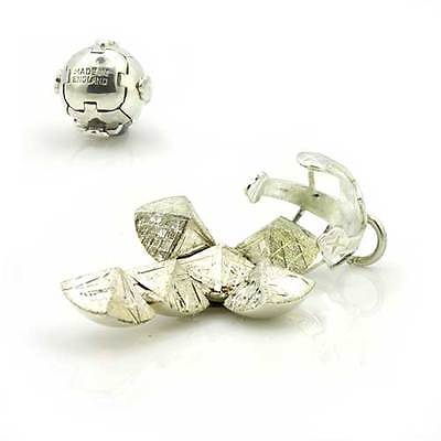Mittlere Größe Massiv Silber Freimaurer Gratis Mason Kugel (Schlüsselanhänger