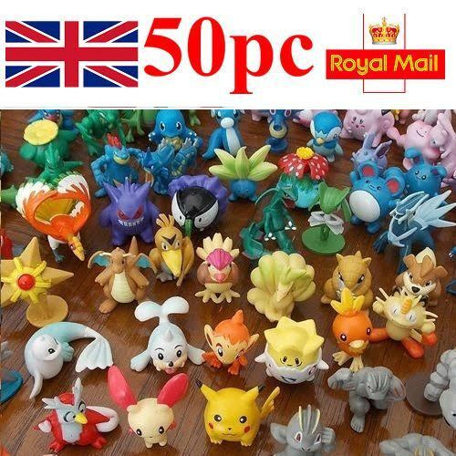50 Pokemon Mini Figures Brand New UK Seller Fast & Free Postage