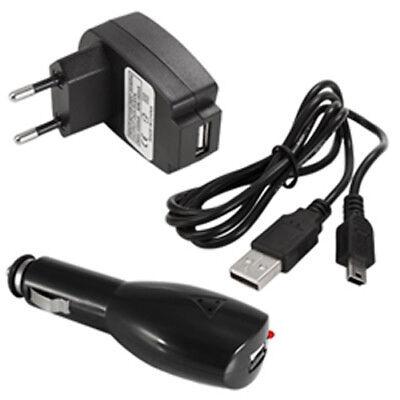Gebraucht, Mini-USB Auto Ladekabel Navi Ladegerät Netzadapter für TomTom Garmin Becker Falk gebraucht kaufen  Deutschland