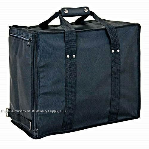 Jewelry Travel Sales Storage Case with  12 Trays &  Liners Inserts