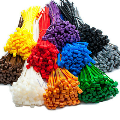 CABLE TIES / ZIP TIE WRAPS BLACK WHITE & ALL COLOURS – ALL SIZES AVAILABLE