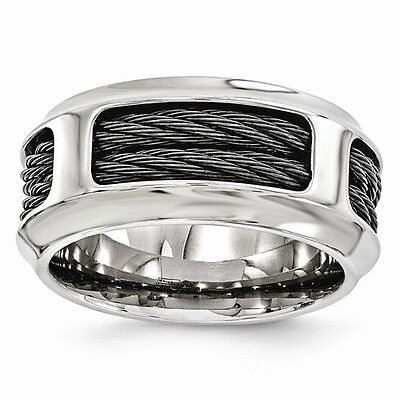 Men's Edward Mirell Titanium & Stainless Steel Cable 10.75mm (Edward Mirell Cable)