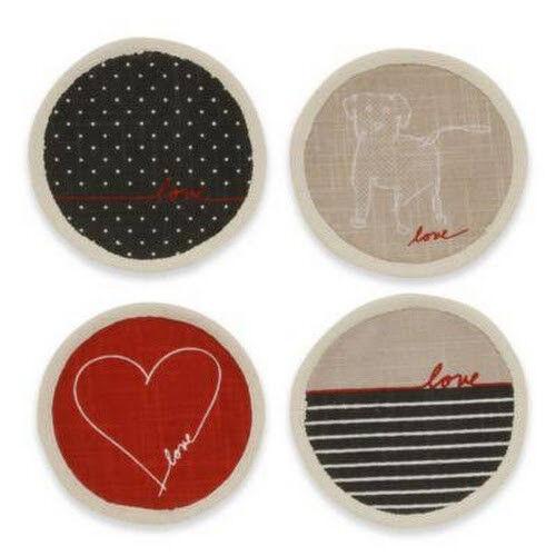 Ed by Ellen DeGeneres Love Collection Coasters (Set of 4)
