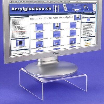 Monitorständer  Podest Bildschirmständer aus Acrylglas