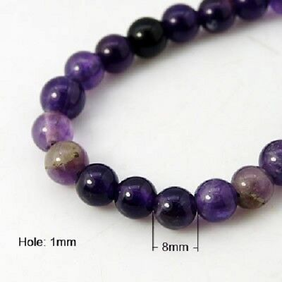 Amethyst Gemstone 8mm Beads - One Strand (24 Beads Approx) J19262