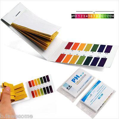 80 Litmus Paper Test Strips 1-14 Ph Urine Saliva Water Acid Alkaline Us Wtrack.