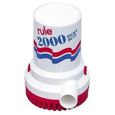 Rule 2000 GPH Bilge pump Model 10 Heavy Duty 12V
