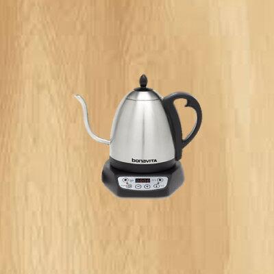Bonavita 1.0L Variable Temperature Gooseneck Electric Kettle Silver Adjustable