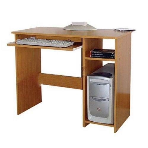 wooden computer desk ebay. Black Bedroom Furniture Sets. Home Design Ideas