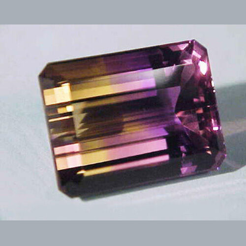 6.96cts Ravishing Color VVS Purple Golden Bicolor Ametrine Loose Gemstone