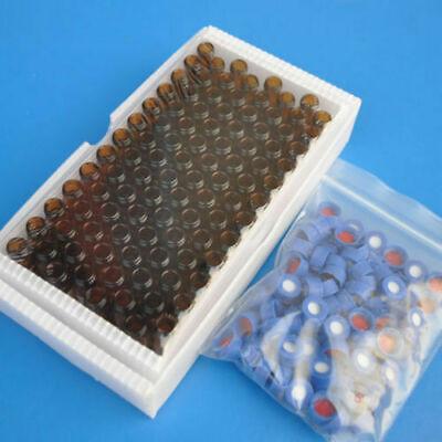 100pcs 9-425 2ml Screw Thread Vials Gc Glass Bottle Ptfesilicone Septa Cap