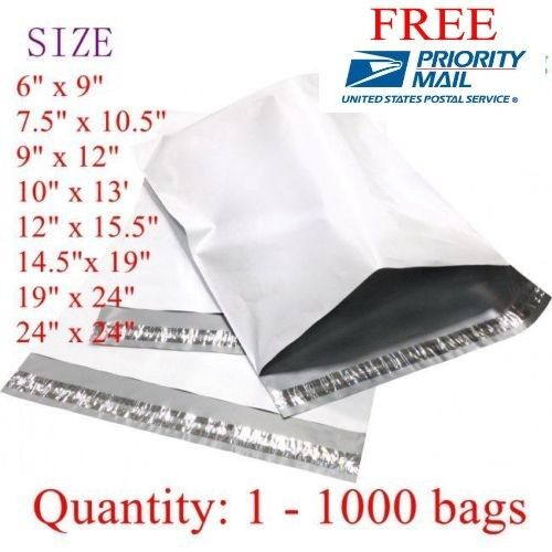 "Poly Mailers Shipping Envelope Bags, 24x24"" 14.5x19""...  50 100 200 300 500 1000"