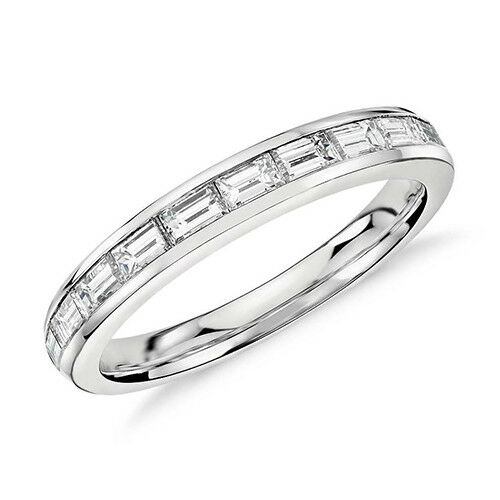 Baguette Cut Platinum 5.50 Ct Diamond Eternity Band In Channel Setting