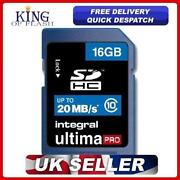 Integral SDHC Class 10 Memory Card 16GB