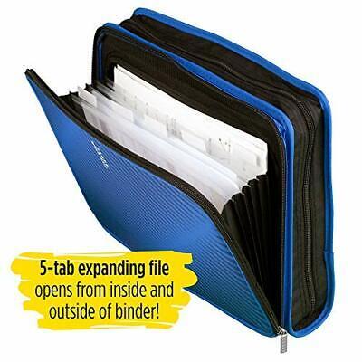 Five Star 2 Inch Zipper Binder 3 Ring Binder 6-pocket Expanding File Durable