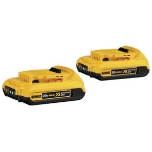 2 x DCB203 20V MAX XR Lithium Ion Battery 2.0AH & DCB112 Charger