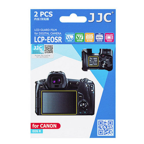 JJC LCP-EOS R LCD Film Screen Protector cover For Canon EOS R EOSR Camera 2 Pack