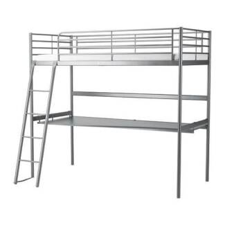 Loft bed (bunk bed) with desk top (Ikea)