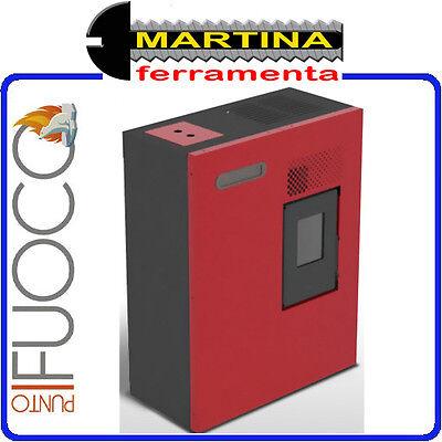 STUFA A PELLET PUNTO FUOCO CAMILLA 5,16 KW COLORE ROSSO BY EVA CALOR