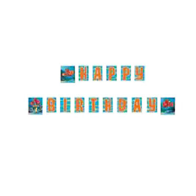 FINDING NEMO HAPPY BIRTHDAY BANNER ~ Party Supplies Hanging Decorations Disney ()