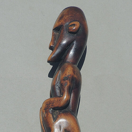 an old antique male traditional figure statue from indonesia #6