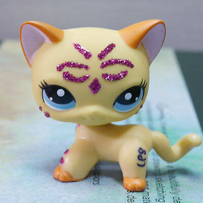 LPS COLLECTION LITTLEST PET SHOP SPARKLE CAT KITTY RARE TOY 3