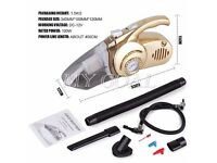 NEW 100W 12V Handheld Wet Dry Car Vacuum Cleaner Rechargeable w/Air Pump Function