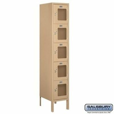 Salsbury 12 Wide Five Tier Box Style See-through Metal Locker - 1 Wide - 5 Feet