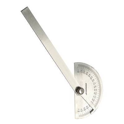 STAINLESS STEEL CARPENTERS ENGINEERS PROTRACTOR MARKING MEASURING ANGLES MITRES