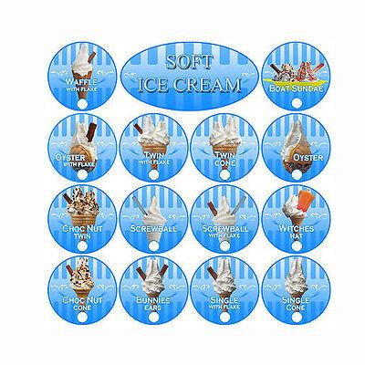 ice cream van sticker, parlour sticker