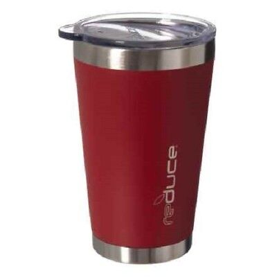 Reduce COLD-1 Vacuum Steel Pint 16oz RED Stainless Steel Tumbler  (16 Oz Pint)