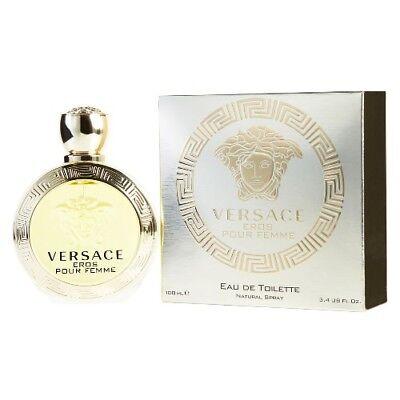 Versace Eros Pour Femme by Gianni Versace 3.4 oz EDT Perfume for Women NIB