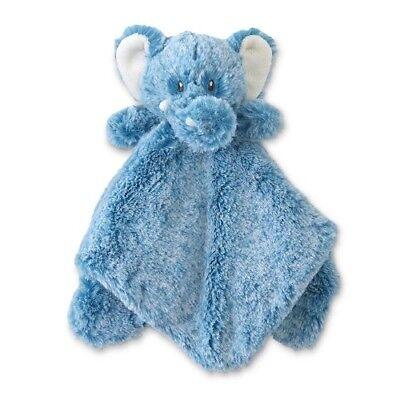 Elephant Security Blanket Animal Adventure Baby Gift, Boys Blue Shower, Soft L30