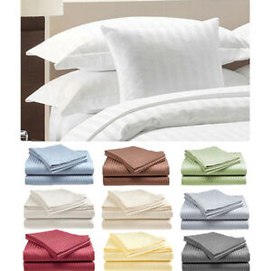 4-Piece-Set-Hotel-Deluxe-100-Cotton-Sateen-Bed-Sheet-Set