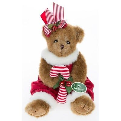 Collectible Christmas Teddy Bear by The Bearington Collection (Pepper Minty)