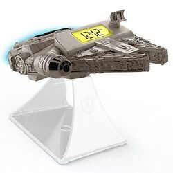 Star Wars Disney The Force Awakens Millennium Falcon NightGlow Alarm Clock Radio