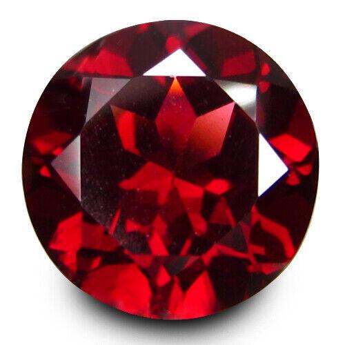 "1.62Cts Genuine Natural Almandaine Garnet Round 7mm Loose Gemstone ""Ref VDO"