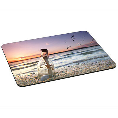 Mauspad XL Gaming Design Mousepad rutschfest, Message in a Bottle Flaschenpost ()