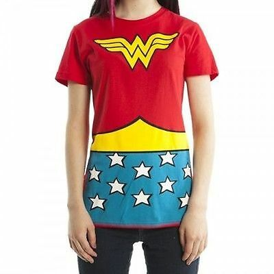 Dc Comics Wonder Woman Logo Kostüm Junior Damen T-Shirt XL