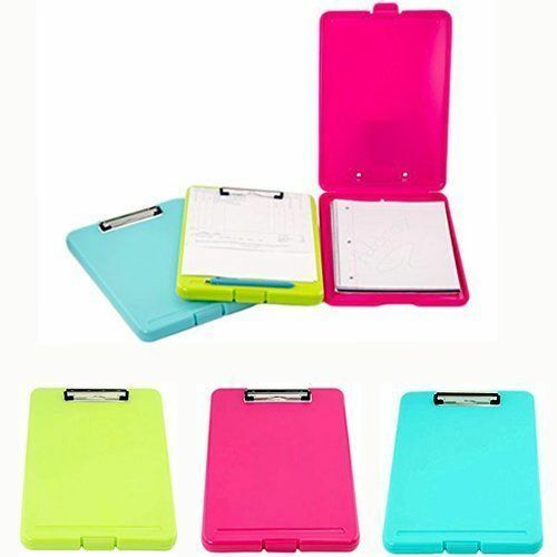 3pk Plastic Assorted Storage Clipboard Letter Size  Office Supply
