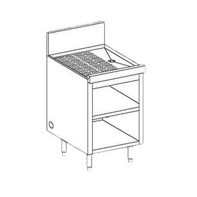 Perlick Sc18 18 Underbar Storage Cabinet With Drainboard Top