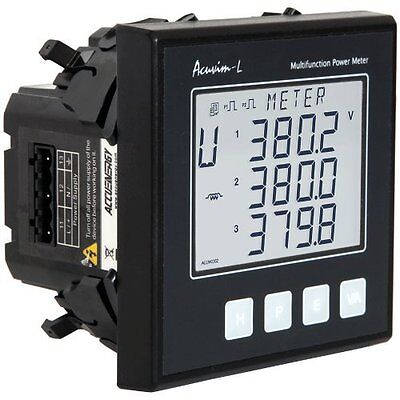 Accuenergy Acuvim-al-d-5a-p1 Multifunction Lcd Power Meter 100-415vac 50-60hz.