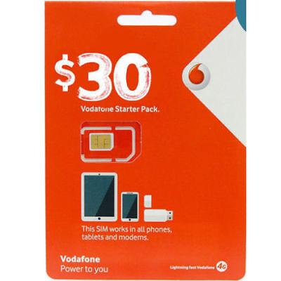 Australian Vodafone Prepaid Mobile  30 Micro Nano Standard Cell Phone Sim Card