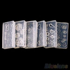 Nail mold ebay for 3d acrylic nail art mold diy decoration