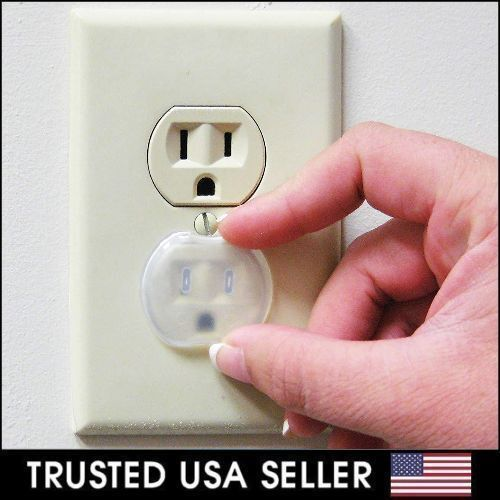24 PCS Safety Outlet Plug Protector Covers Child Baby Proof Electric Shock Guard