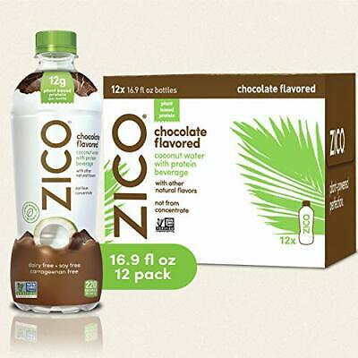 Zico Chocolate Flavored Coconut Water with Protein Beverage, 16.9 Fluid Ounce