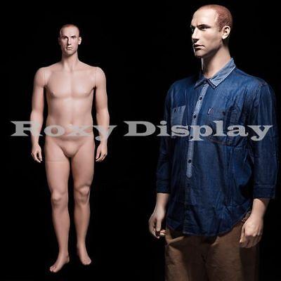 Male Fiberglass Realistic Mannequin Dress Form Display Mz-plusman2